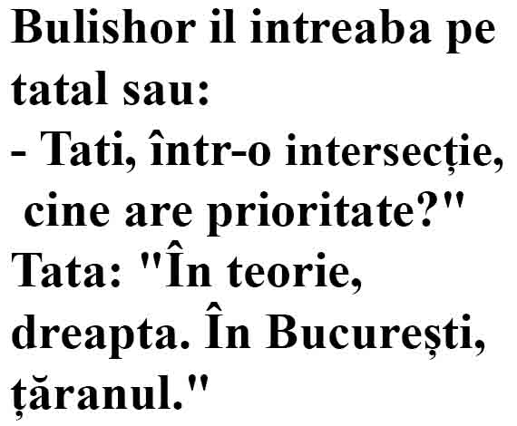 intersectie prioritate bula tata